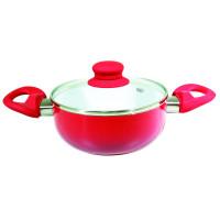 <p align='left'>Cacarola de Ceramica com Tampa de Vidro nº 16 Vermelho [Catuaí ...</p>