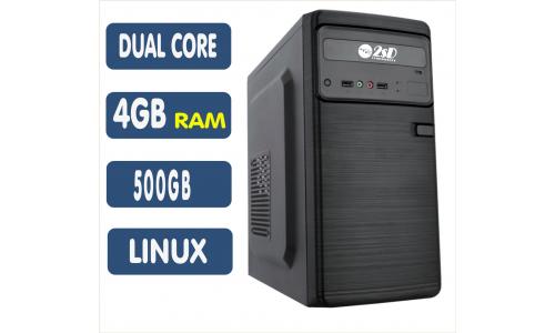 <p align='left'>Computador SSD Intel Celeron Dual Core J1800, 4GB, HD 500GB, Linux [LP1003]</p>