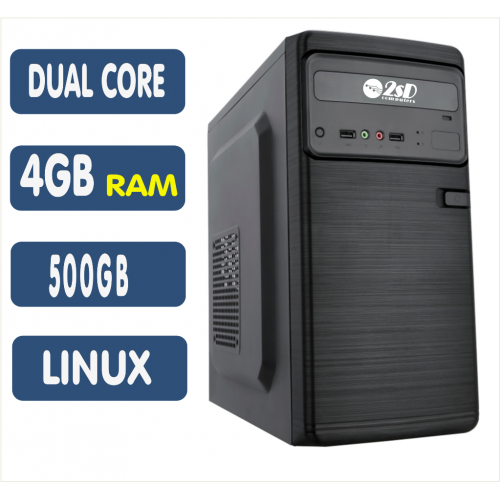 Computador SSD AMD A4 6300, 4GB, HD 500GB, Linux, DVD [LP1015]