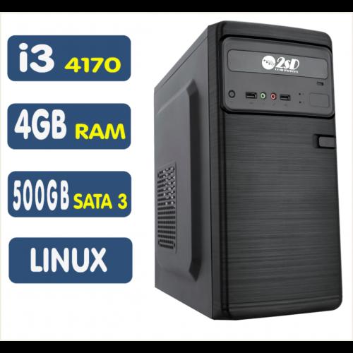 Computador SSD Intel Core i3-4170, 4GB, 500GB, Linux [LP1004]