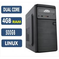 <p align='left'>Computador SSD AMD A4 6300, 4GB, HD 500GB, Linux, DVD [LP1015]</p>
