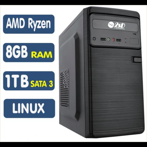 Computador SSD AMD Ryzen 3 2200G, 8GB, HD 1TB, Linux [LP1021]