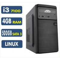 <p align='left'>Computador SSD Intel Core i3-7100, 4GB , 500GB ,Linux [LP1026]</p>