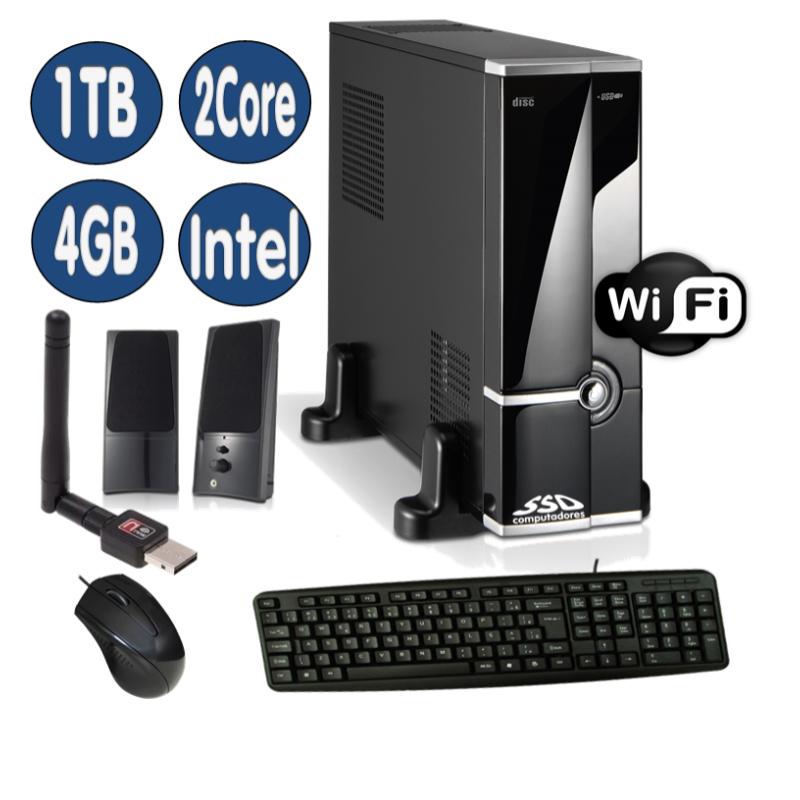 <p align='left'>Computador SSD Intel Core Celeron J1800, 4GB, HD 1TB, DVD/RW, Mouse, Teclado ...</p>
