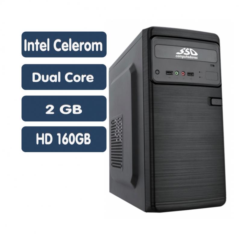 <p align='left'>Computador SSD Intel Core Celeron Dual J1800, 2GB, HD 160GB, Windows ...</p>