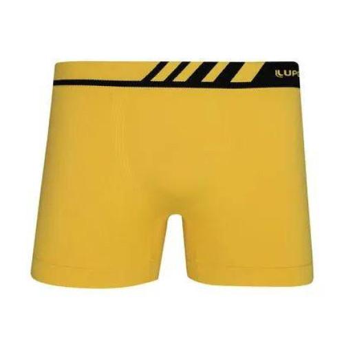 Cueca Lupo Boxer - Microfibra Sem Costura (Adulto), Amarela, 671